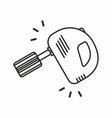 kitchen mixer icon vector image