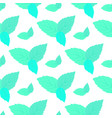 leaves of fresh mint seamless pattern vector image
