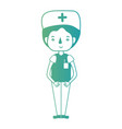 line man nurse with uniform and hairstyle vector image vector image