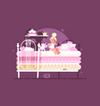 little princess on pea vector image vector image