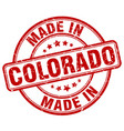 made in colorado red grunge round stamp vector image vector image