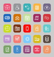 Mobile line flat icons vector image