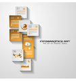 Modern UI Flat style infographic layout for data vector image vector image