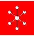 Molecule sign vector image vector image