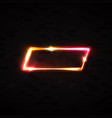 neon light rectangle led or halogen lamp wall sign vector image vector image