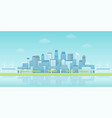 panoramic waterfront smart city vector image