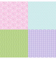 pastel seamless floral patterns vector image