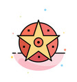 pentacle satanic project star abstract flat color vector image vector image