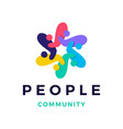 people family community overlapping color logo vector image vector image