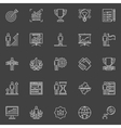 Personal development icons vector image