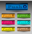 push button template vector image vector image