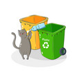 recycling garbage sorting vector image