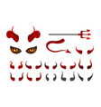 red devil horn satanic horns face with yellow vector image