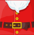 red santa claus suit vector image