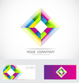 Rhombus logo vector image vector image