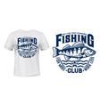 seaking perch fish t-shirt print vector image vector image