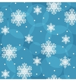 Seamless background with snowflakes eps10 vector image vector image