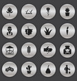 set of 16 editable agriculture icons includes vector image