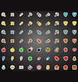 set of flat game icons in cartoon style vector image vector image