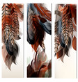 set of identity templates with colorful feathers vector image vector image