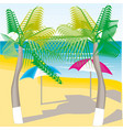 summer and beach travel vector image