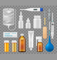 surgery and medical therapy equipment items vector image
