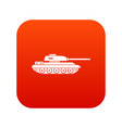 tank icon digital red vector image vector image