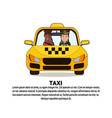 taxi service icon driver and african american vector image vector image