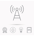 Telecommunication tower icon Signal sign vector image