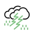 Thunderstorm vector image vector image