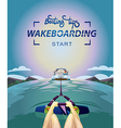 Wakeboarding start in water vector image vector image