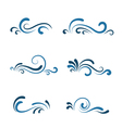 Wave icon set vector image vector image