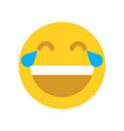 yellow happy face emoji face vector image vector image