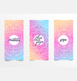 yoga bright background template with mandala vector image vector image