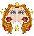 zodiac Gemini sign vector image vector image
