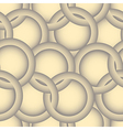 Abstract seamless background of ring and circle vector image