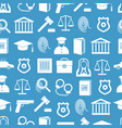 law and justice seamless pattern background vector image