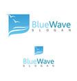 blue wave logo vector image