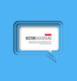 3d paper speech bubble blue color vector image vector image