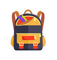 backpack for kid with school stationery accessory vector image vector image