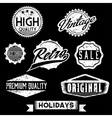Black and White Grunge Retro Stamps and Badges vector image