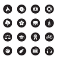 black flat safety and miscellaneous icon set vector image vector image