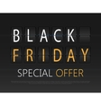 Black friday text on the airport timetable Sale vector image