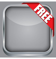 Blank app icon with free ribbon vector image vector image