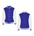 blue college jacket vector image vector image