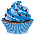 blue cupcake vector image vector image