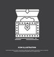 box chest gold reward treasure icon glyph symbol vector image