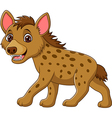 Cartoon funny hyena walking isolated vector image vector image