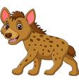 Cartoon funny hyena walking isolated vector image