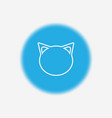 cat icon sign symbol vector image vector image